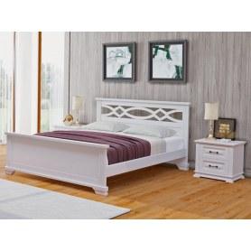 Кровать Nika-M, 160х200, береза, белая эмаль