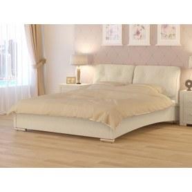 Кровать Nuvola-4 (2 подушки), 180х200, рогожка глазго бежевый