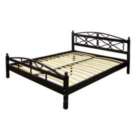 Кровать Оливия 160х200, с основанием, черный