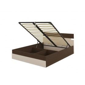 Кровать с подъемным механизмом Milton, 160х200, Венге/Дуб Шамони