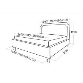 Кровать с подъемным механизмом Леонардо 1590