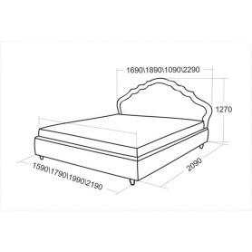Кровать с подъемным механизмом Эмануэль 1890