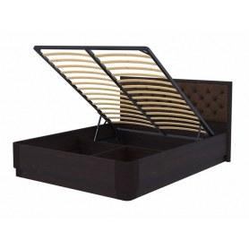 Кровать с подъемным механизмом Wood Home 3, 180х200, венге сосна/Лофти Кофейный