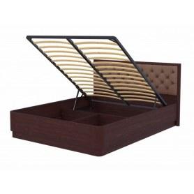 Кровать с подъемным механизмом Wood Home 3, 200х200, красно-коричневый сосна/Лофти Мокко