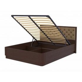 Кровать с подъемным механизмом Wood Home 3, 160х200, орех сосна/Лофти тауп