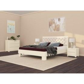 Кровать Wood Home 3, 160х200, слоновая кость сосна/Лофти Айвори