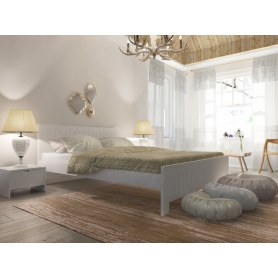 Кровать Vesna Line 3, 180х200, береза, белая эмаль