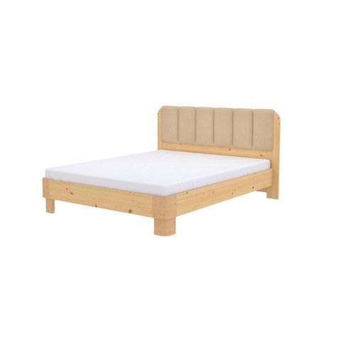 Кровать Wood Home 2, 160х200, Матовый лак сосна/Велюр Лофти Айвори