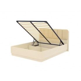 Кровать с подъемным механизмом Wood Home 2, 200х200, Слоновая кость сосна/Лофти Айвори