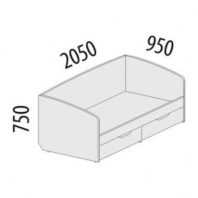 Кровать 900 Тиффани 93.05