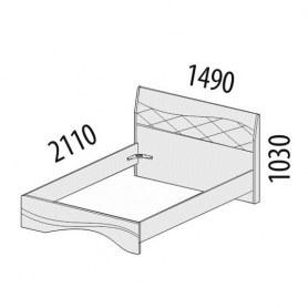 Кровать Соната 98.02.1 (Спальное место 1400х2000)