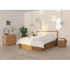 Кровать с подъемным механизмом Wood Home 3, 200х200, антик сосна/Лофти бежевый