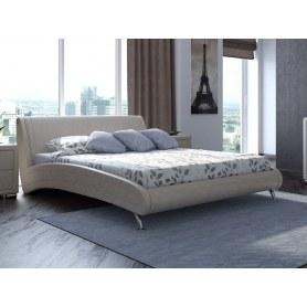 Кровать Corso 2, 160х200, экокожа жемчуг