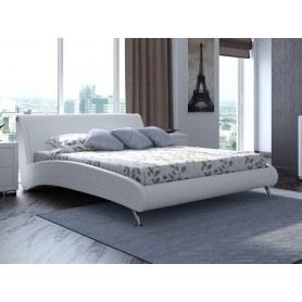 Кровать Corso 2, 160х200, экокожа белая