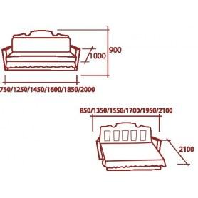 Прямой диван Аккордеон - бук 70 кольцо