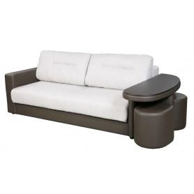 Прямой диван Сантана 4 со столом