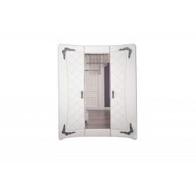 Шкаф трехдверный с зеркалом в спальню Аделина