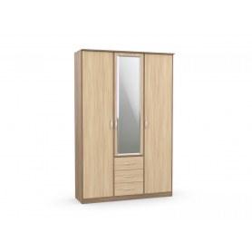 Шкаф комбинированный с зеркалом в спальню Дуэт Люкс