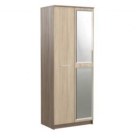 Шкаф двухстворчатый с зеркалом в гостиную Флора