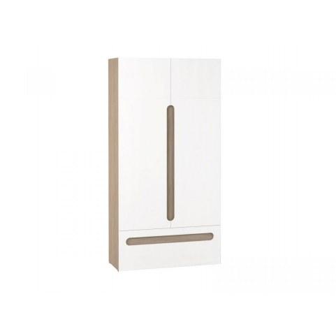 Шкаф двухстворчатый с ящиком в детскую Палермо-Юниор